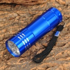 LW-326J 50lm 1-Mode 9-LED Cool White Light Flashlight w/ Strap - Blue (3 x AAA)