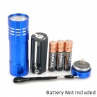 LW-326J 50lm 1-Mode 9-LED Cold White Light Flashlight w/ Strap - Blue (3 x AAA)