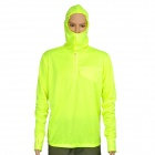Sun Protection Quick-Dry Polyester Hoody Fishing Cloth - Fluorescent Green (XXL)