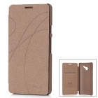 KALAIDENG Stylish Protective Case for Huawei ASCEND D2 - Coffee