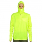 Sun Protection Quick-Dry Polyester Hoody Fishing Cloth - Fluorescent Green (XL)