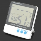 HTC-2 Digital Indoor / Outdoor Thermometer Hygrometer w/ Probe - White + Black (1 x AAA)