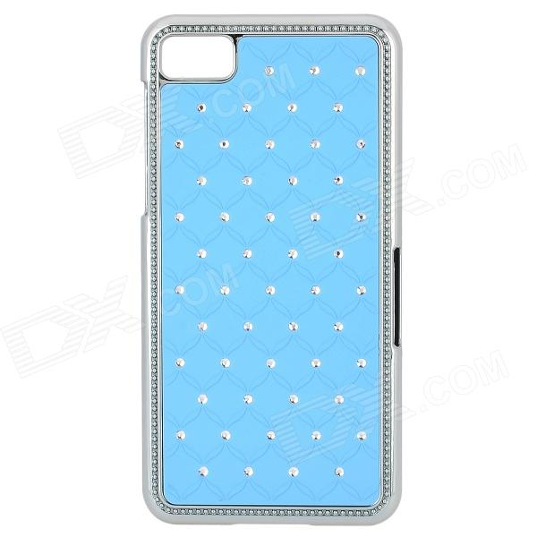 Protective CrystalPlastic Back Case for BlackBerry Z10 - Blue + Silver printio чехол для blackberry z10