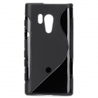 S Shape Protective TPU Back Case for Sony Xperia Acro S LT26W - Black