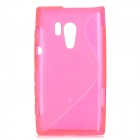 """S"" Style Protective TPU Back Case for Sony Xperia acro S LT26w - Deep Pink"