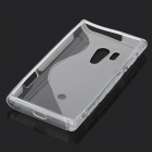 """S"" Style Protective TPU Back Case for Sony Xperia acro S LT26w - Translucent White"