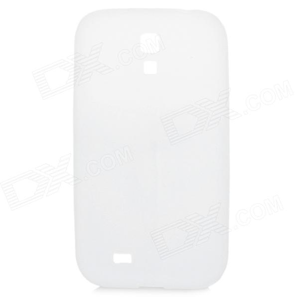 Protective Soft Silicone Back Cover Case for Samsung i9500 / Galaxy S4 - Transparent White protective silicone soft back case cover for iphone 5 white