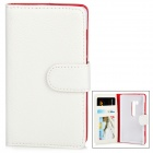 Protective PU Leather Flip-Open Case for BlackBerry Z10 - White + Red