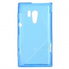 """S"" Style Protective TPU Back Case for Sony Xperia acro S LT26w - Translucent Blue"