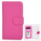 Protective PU Leather Flip-Open Case for BlackBerry Z10 - Deep Pink