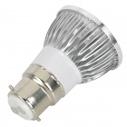 B22 4W 360lm 3500K 4 Epileds LED Warm White Light Bulb - Silver + branco leitoso (85 ~ 265V)