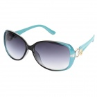 CY8291 UV400 Protection Women's PC Frame Resin Lens Sunglasses - Black + Blue