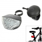 GaCIROn W01 6-LED 5-Mode Red Light Bicycle Tail Lamp - Black