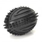 "Soccer Style Pet's Dog 3.5"" Teeth Grinder Cleaning Squeaker Ball - Black"