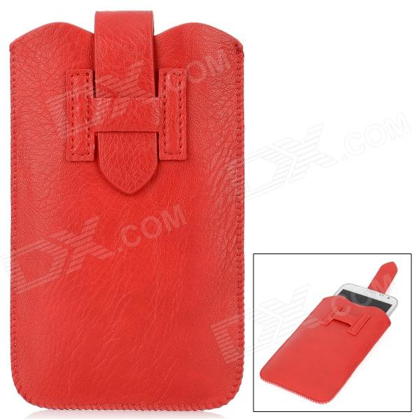 Protective PU Leather Pouch Case for Samsung Galaxy Note II N7100 / Galaxy Note i9220 - Red protective leather case screen protectors for samsung galaxy note i9220 gt n7000