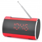 "SANSUI A46 3.0"" LED 2-CH Bass Media Player Speaker w/ FM / Music Alarm Clock / TF - Red + Black"