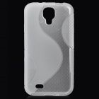 Protective Soft TPU Back Cover Case for Samsung Galaxy S4 / i9500 - Transparent