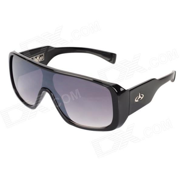 UV400 Protection Cellulose Acetate Frame Resin Lens Sunglasses - Black resin sunglasses with uv400 uv protection