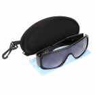 UV400 Protection Cellulose Acetate Frame Resin Lens Sunglasses - Black