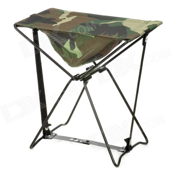BKSP-030 Portable Camping Fishing Canvas Chair Stool - Camouflage + Black furniture exhibition bar stool wine red blue color chair retail wholesale free shipping living room hotel ktv chair