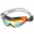 Windproof TR90 Frame PC Lens Goggles w/ Elastic Strap - Orange + Black