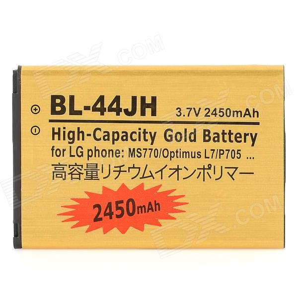 LG Optimus L7 / P705 / MS770 / BL-44JH Replacement 2450mAh Battery - Golden