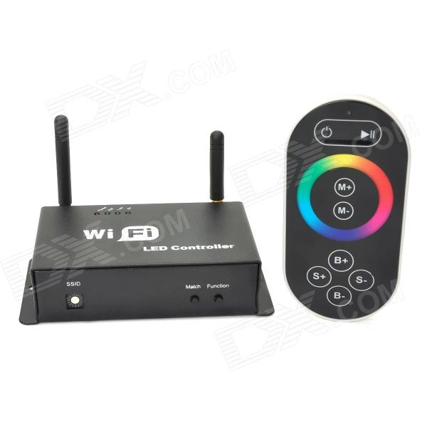 3-CH Wi-Fi Cell Phone Controlled RGB Light Strip Controller + Receiver Set - Black + White universal nylon cell phone holster blue black size l