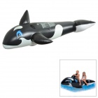 Weimasi WMB07620 Whale Style Floating Water Inflatable Toy - Black + White + Blue