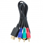 HDMI Male to 3-RCA Male Component Cable - Black