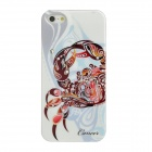 Cancer Pattern Protective ABS + PC Hard Back Case w/ Rhinestone for iPhone 5 - Brown + White