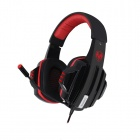 SOMiC E-95v2012 5.1-Channel VIB2 Vibration Unit USB Headphone Headset w/ Microphone - Black + Red