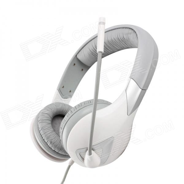SOMiC G945 Virtual 7.1-Channel Headphone w/ Mic / Remote Control - White + Grey (USB Plug / 290cm)