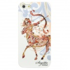 Sagittarius Pattern Protective ABS + PC Hard Back Case w/ Rhinestone for Iphone 5 - Brown + White