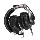 SOMiC E-95v2010 5.1-Channel VIB2 Vibration Unit Headphone Heatset w/ Remote and Mic - Black + Silver