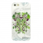 Gemini Pattern Protective ABS + PC Hard Back Case w/ Rhinestone for Iphone 5 - Green + White