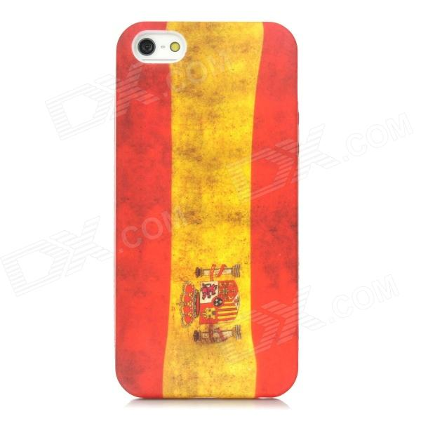 все цены на Retro Spain Flag Pattern Protective PVC Back Case for Iphone 5 - Red + Yellow онлайн