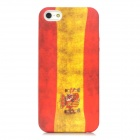 Retro Spain Flag Pattern Protective PVC Back Case for Iphone 5 - Red + Yellow