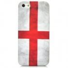 Retro Switzerland Flag Pattern Protective PVC Back Case for Iphone 5 - White + Red