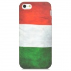 Retro Italy Flag Pattern Protective PVC Back Case for Iphone 5 - Red + White + Green