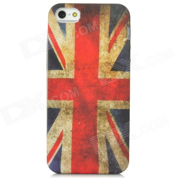 Retro U.K. Flag Pattern Protective PVC Back Case for Iphone 5 - Red + White + Blue chrome plated brass physical optics saccharimeter refract meter 0 80