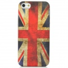 Retro U.K. Flag Pattern Protective PVC Back Case for Iphone 5 - Red + White + Blue