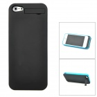 External 2200mAh Power Battery Charger Back Case w/ Stand for iPhone 5 - Black + Blue