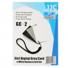 GC-2 3-in-1 Digital Gray Card w/ White Balance Card Set - Black + White + Gray