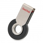 Sandisk CZ58 360 Degree Rotation USB 2.0 USB Flash Drive - Silver + Black (8GB)
