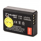 RUIBO LP-E10 7.4V 1200mAh Rechargeable Digital Camera Battery for Canon EOS 1100 / KISS X50 - Black