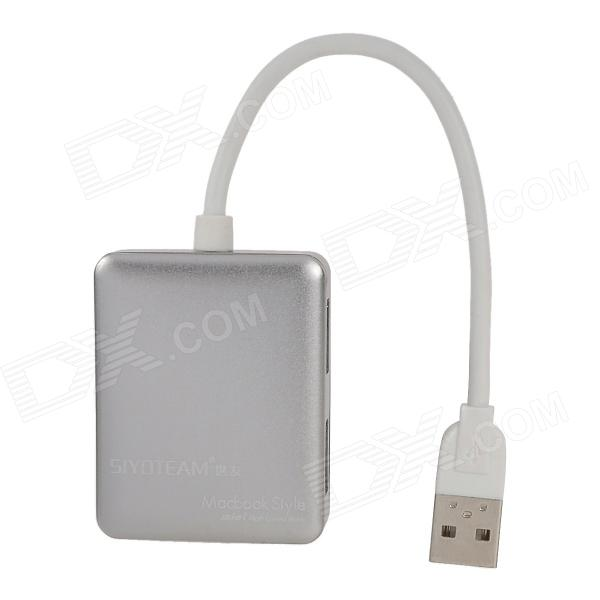 480Mbps USB 2.0 to 4-Port Hub - Silver