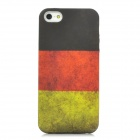 Retro Germany Flag Pattern Protective PVC Back Case for Iphone 5 - Black + Red + Yellow