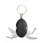 Multifunctional Outdoor Oval Shaped Folding Knife / Bottle Opener w/ Keychain - Black