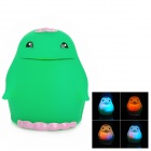 Cute Penguin Style Kids Funny Bathing Toy w/ Seven Color Light Flashing LED - Green (1 x G10)