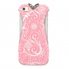 Elegant Cheongsam Style Electrofacing Protective Plastic Hard Back Case for Iphone 5 - Pink